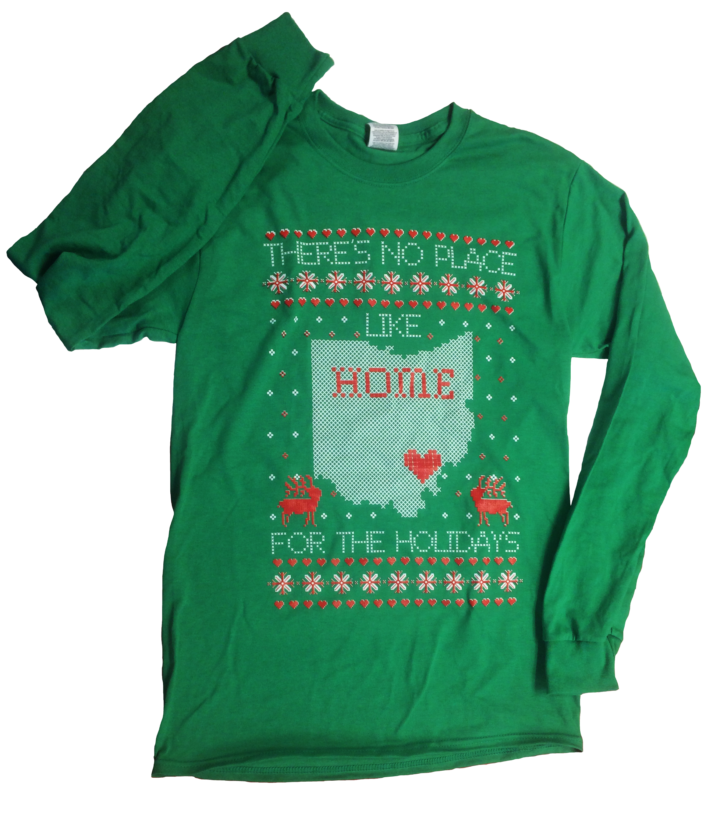 There\'s No Place Like Home Ugly Christmas Sweater Tee